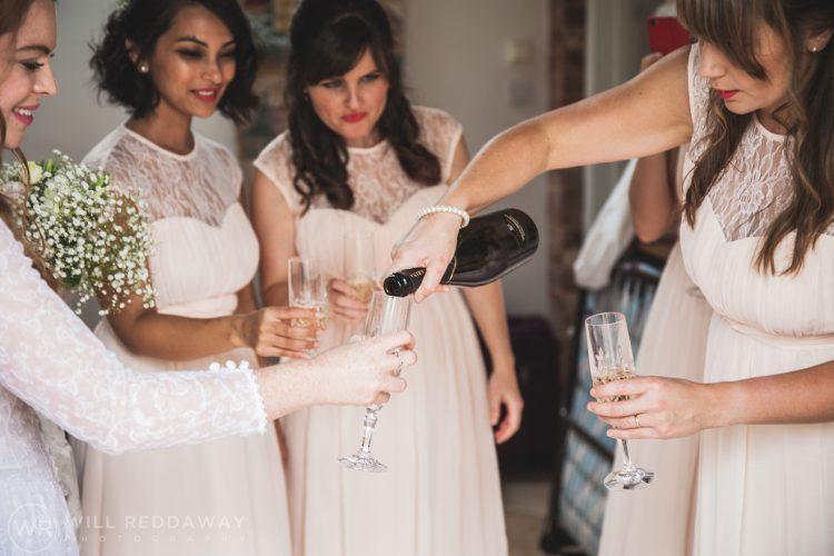 Farringdon Marquee Wedding | Devon Wedding Photographer | Champagne