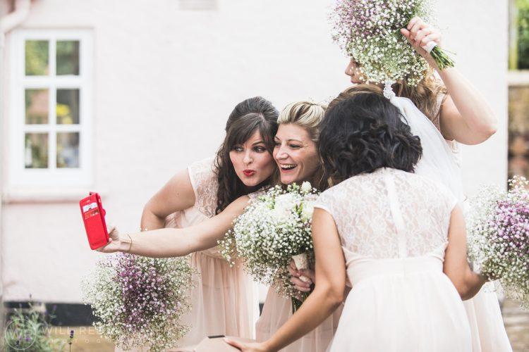 Farringdon Marquee Wedding | Devon Wedding Photographer | Bridesmaid Selfie
