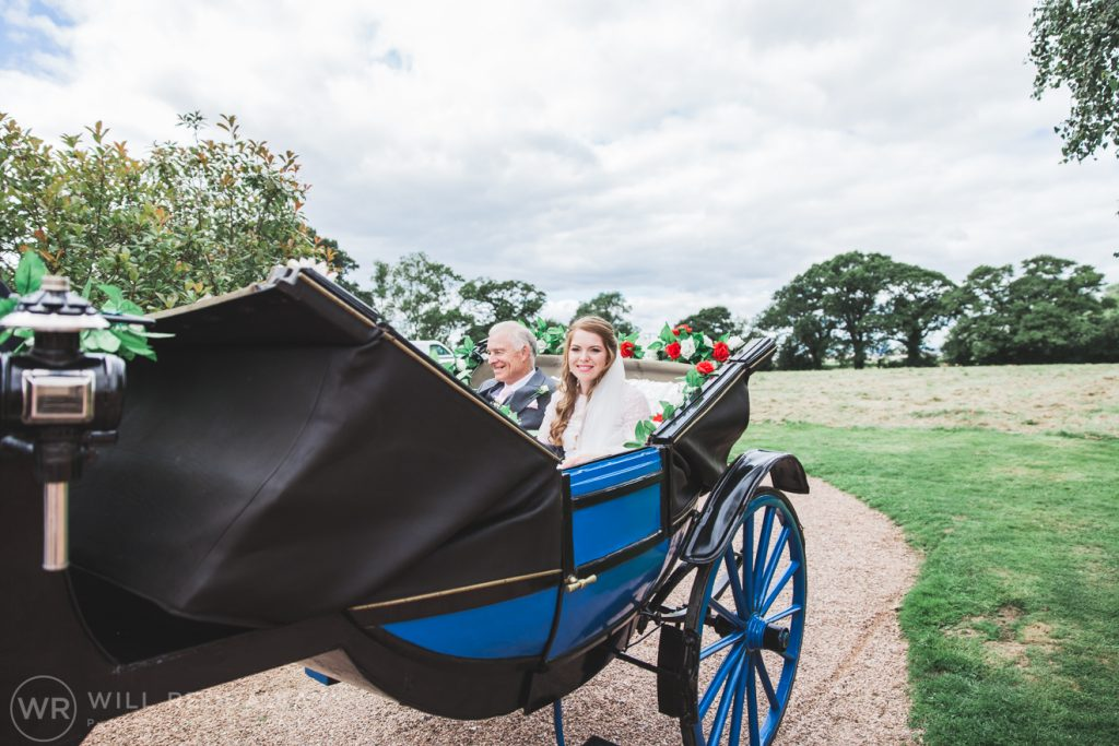 Farringdon Marquee Wedding | Devon Wedding Photographer | Bride In Horse & Carriage