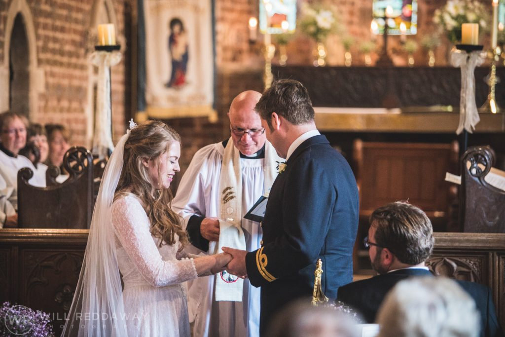 Farringdon Marquee Wedding | Devon Wedding Photographer | Bride & Groom In Church