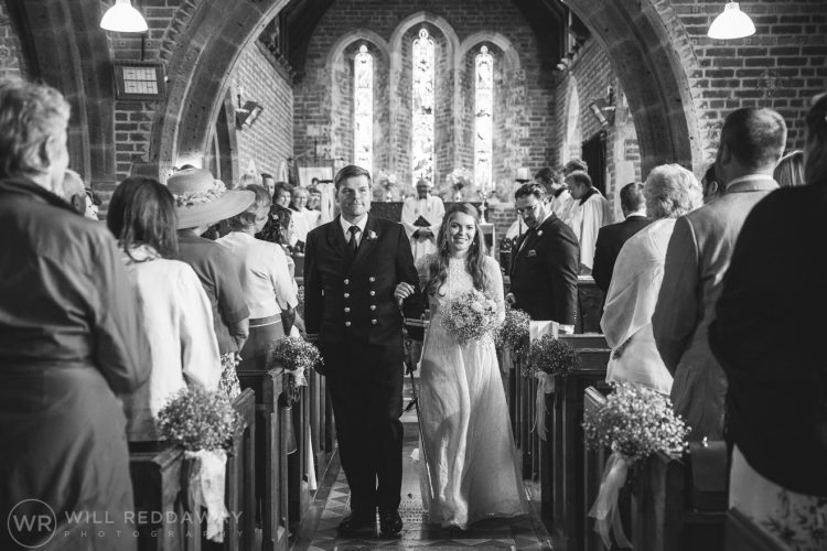 Farringdon Marquee Wedding | Devon Wedding Photographer | Bride & Groom Leaving Church
