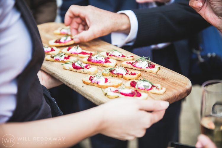 Farringdon Marquee Wedding | Devon Wedding Photographer | Canapes