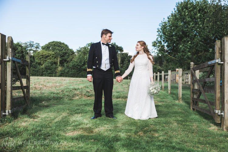 Farringdon Marquee Wedding | Devon Wedding Photographer | Bride & Groom