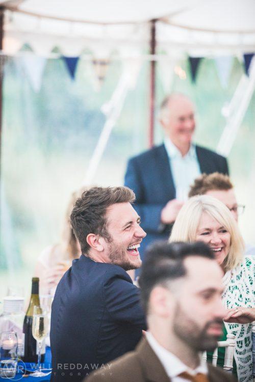 Farringdon Marquee Wedding | Devon Wedding Photographer | Laughing Guest