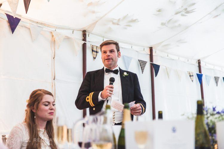 Farringdon Marquee Wedding | Devon Wedding Photographer | Groom Speech