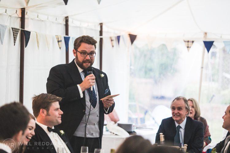 Farringdon Marquee Wedding | Devon Wedding Photographer | Bestman