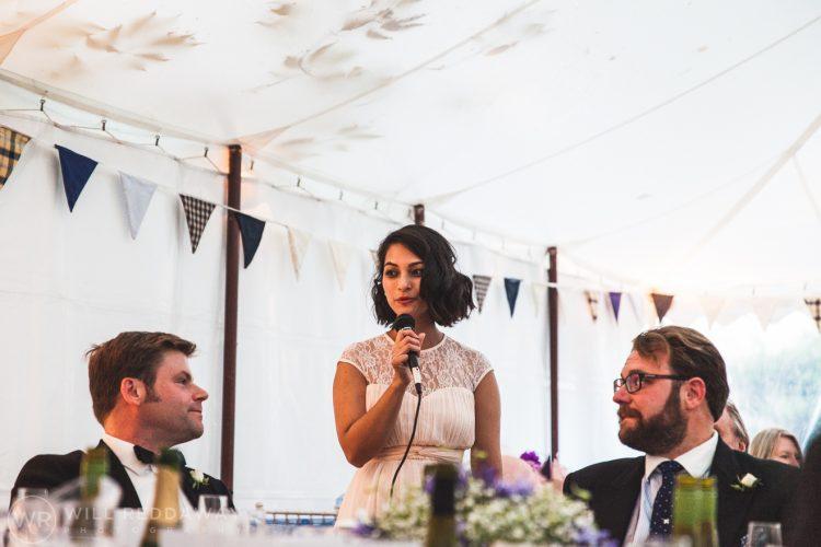 Farringdon Marquee Wedding | Devon Wedding Photographer | Bridesmaid