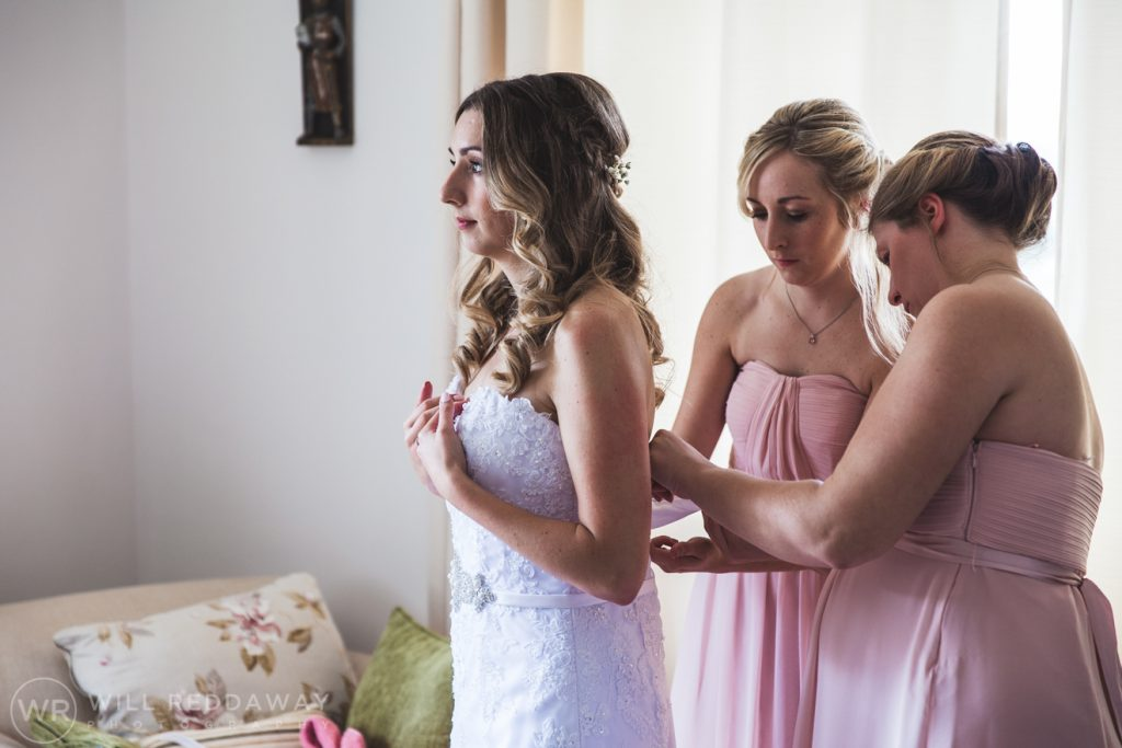Hayne Barn Wedding | Devon Wedding Photographer | Bride & Bridesmaids