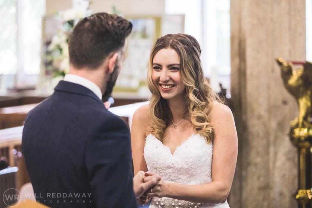 Hayne Barn Wedding | Devon Wedding Photographer | Bride & Groom In Church