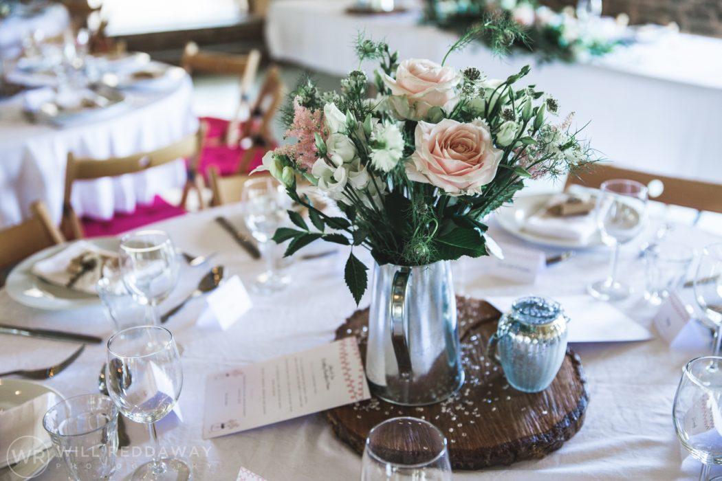 Hayne Barn Wedding | Devon Wedding Photographer | Table Decorations