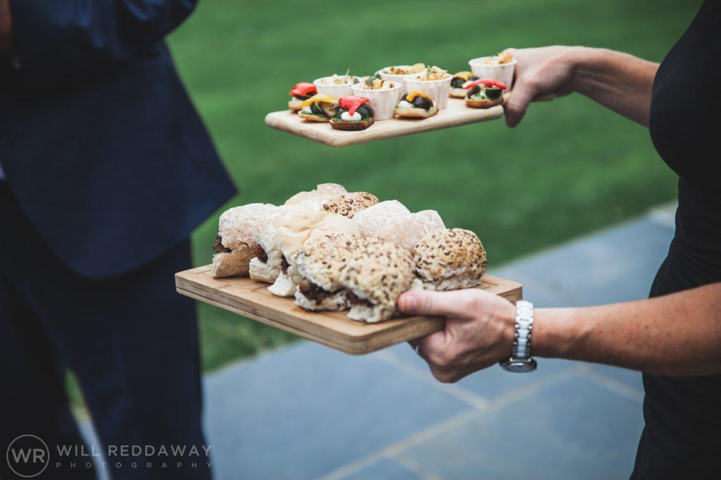 Hayne Barn Wedding | Devon Wedding Photographer | Canapes