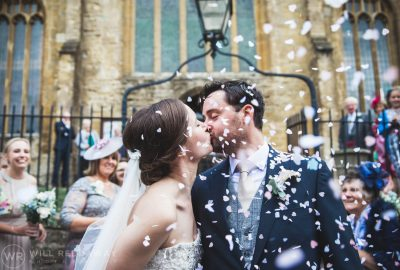 Dillington House Wedding | Devon Wedding Photographer | Confetti Kiss