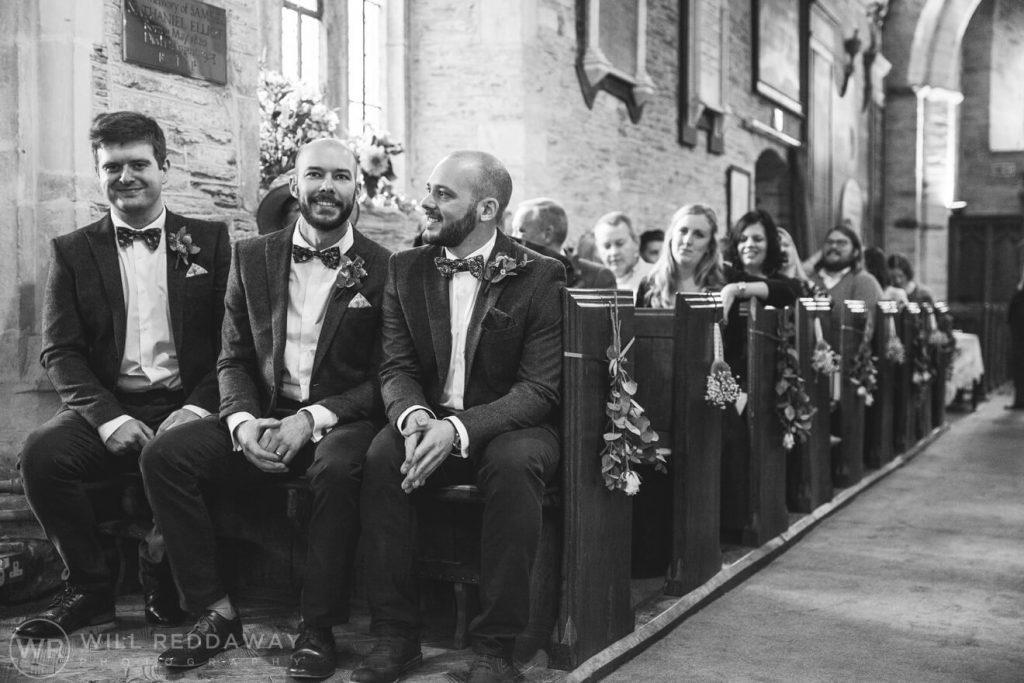 The Barn At South Milton Wedding | Devon Wedding Photographer | Groom