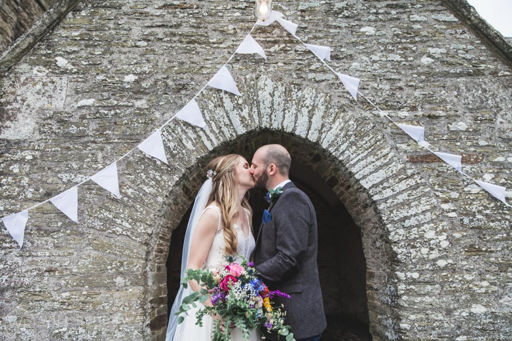 The Barn At South Milton Wedding | Devon Wedding Photographer | Bride & Groom