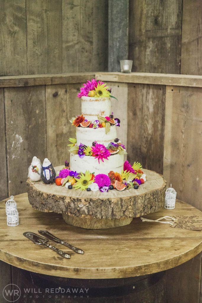 The Barn At South Milton Wedding | Devon Wedding Photographer | Wedding Cake
