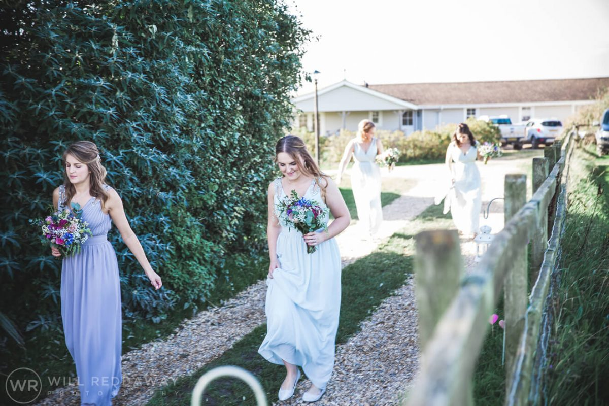The Barn At South Milton Wedding | Devon Wedding Photographer | Bridesmaids