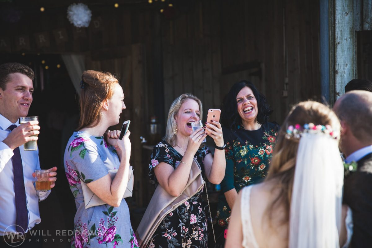 The Barn At South Milton Wedding | Devon Wedding Photographer | Wedding Guests
