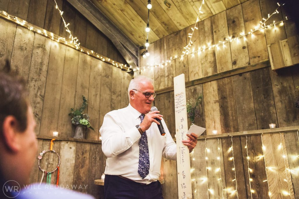The Barn At South Milton Wedding | Devon Wedding Photographer | Father Of The Bride