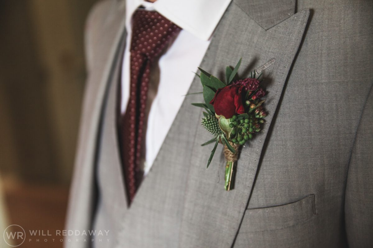 Shilstone House Wedding | Devon Wedding Photographer | Button Hole