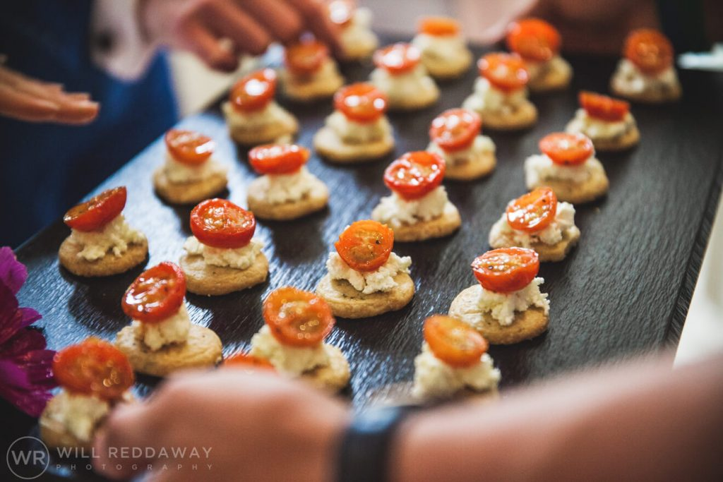 Shilstone House Wedding | Devon Wedding Photographer | Canapes