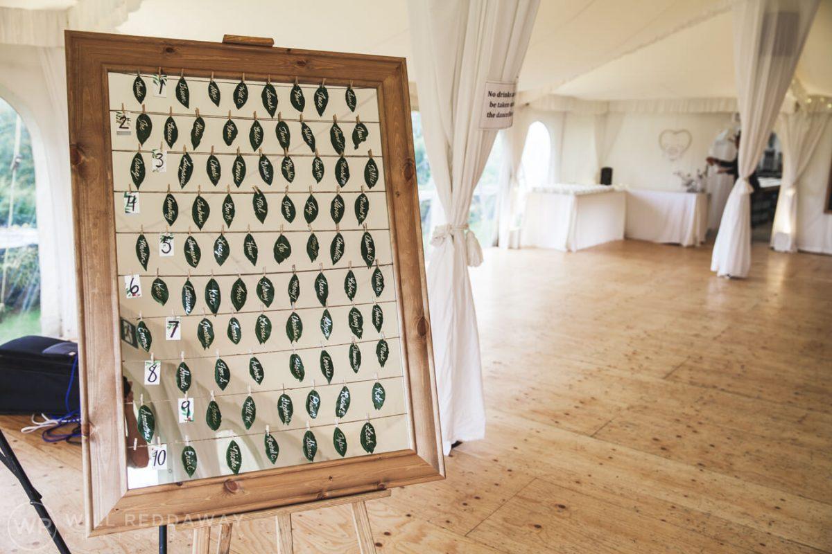 Shilstone House Wedding | Devon Wedding Photographer | Table Plan
