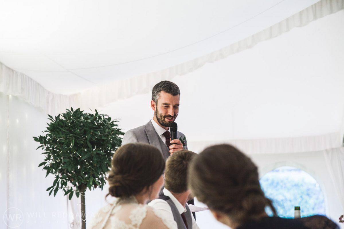 Shilstone House Wedding | Devon Wedding Photographer | Speeches