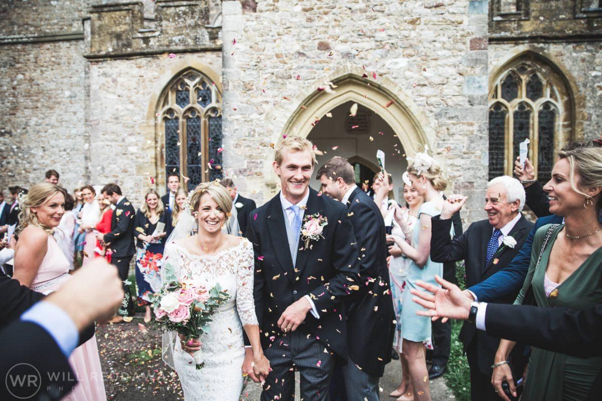Barn Wedding   Devon Wedding Photographer   Confetti