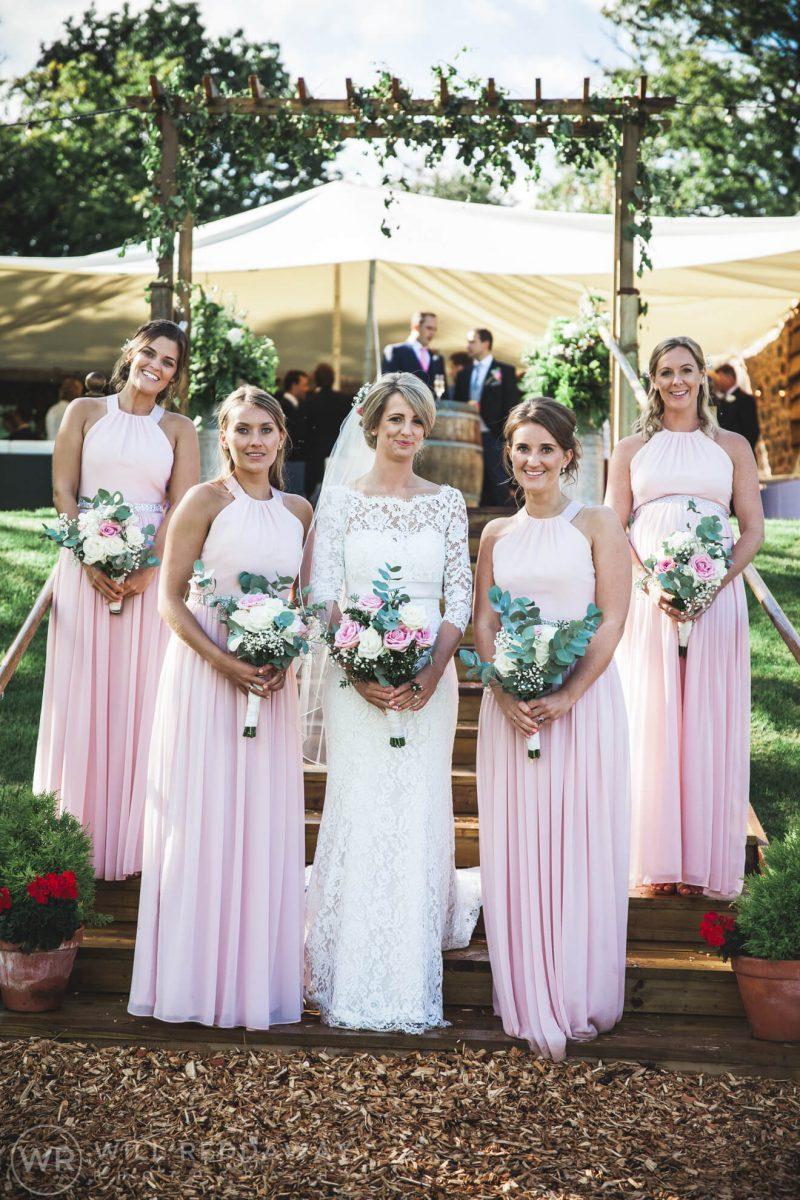 Barn Wedding   Devon Wedding Photographer   Bride & Bridesmaids