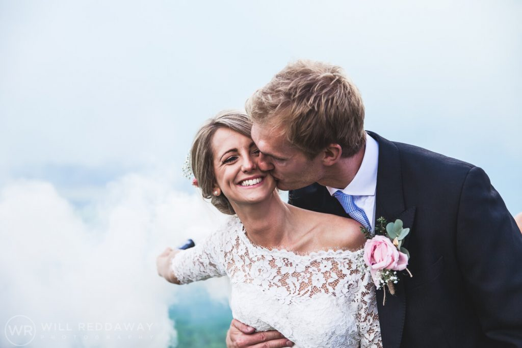 Barn Wedding | Devon Wedding Photographer | Smoke Bombs