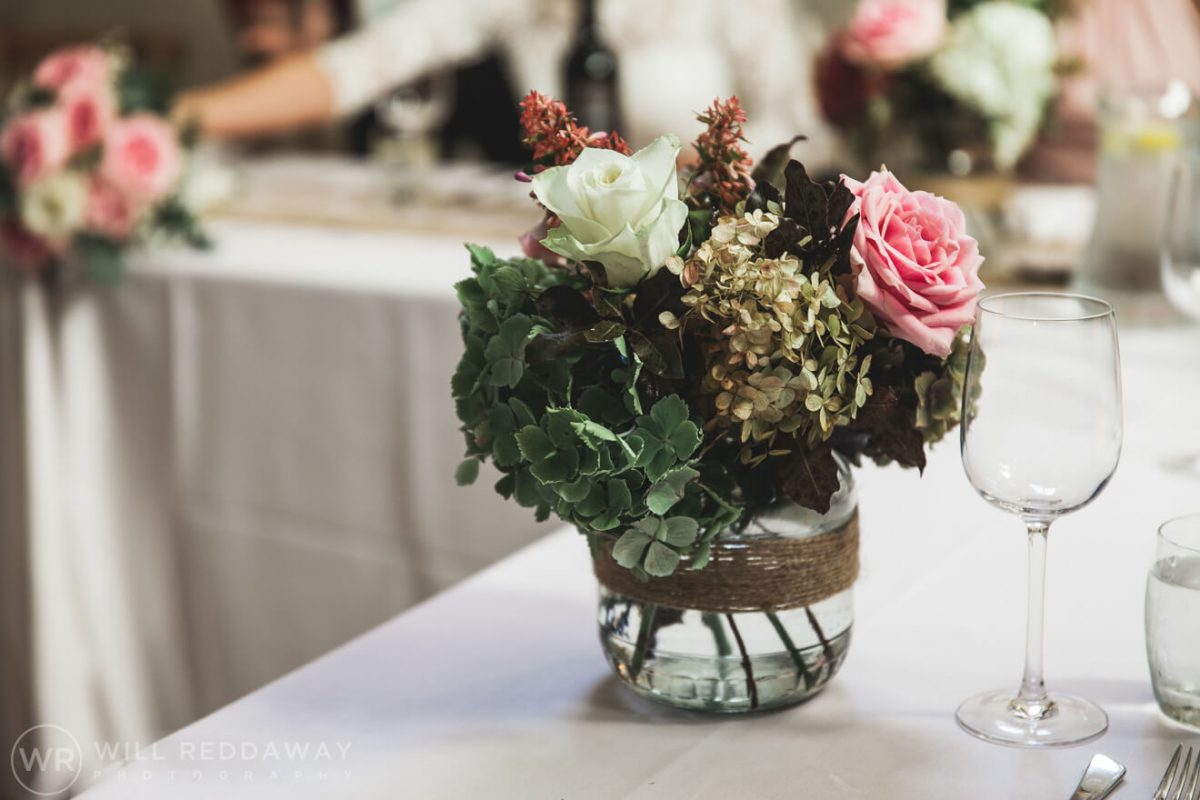 Barn Wedding | Devon Wedding Photographer | Table Decoration