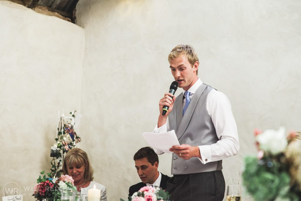Barn Wedding | Devon Wedding Photographer | Groom Speech