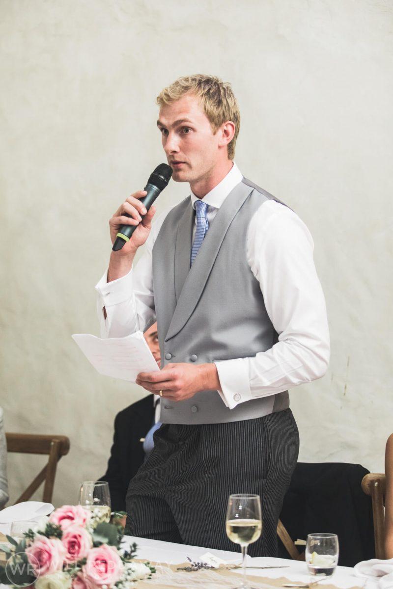 Barn Wedding   Devon Wedding Photographer   Groom Speech