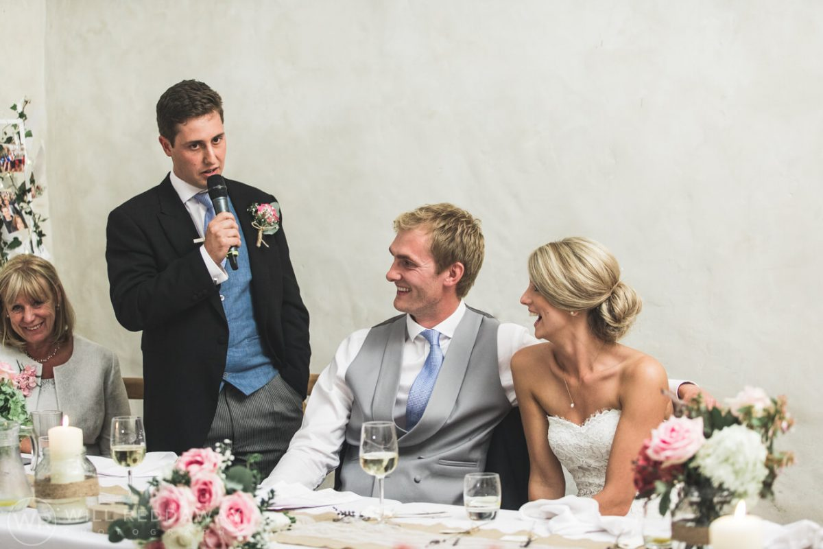 Barn Wedding | Devon Wedding Photographer | Bestman Speech