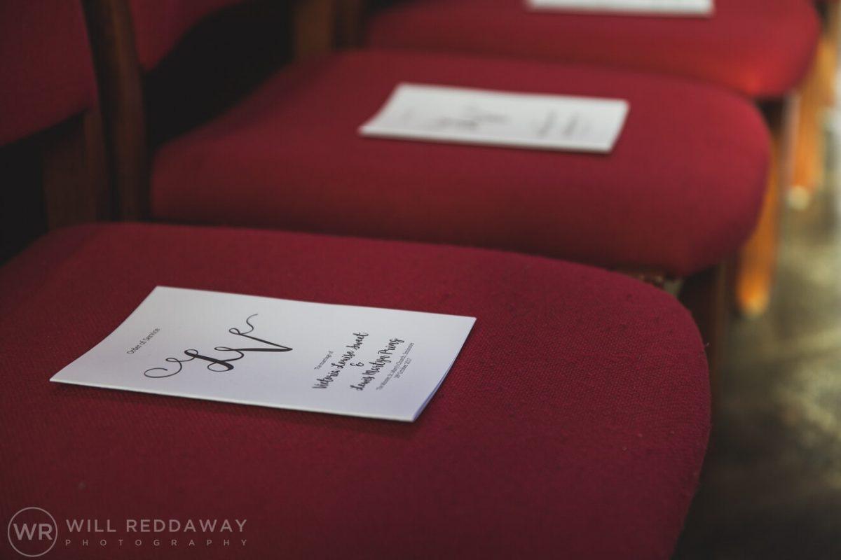 Dillington House Wedding | Devon Wedding Photographer | Orders Of Service