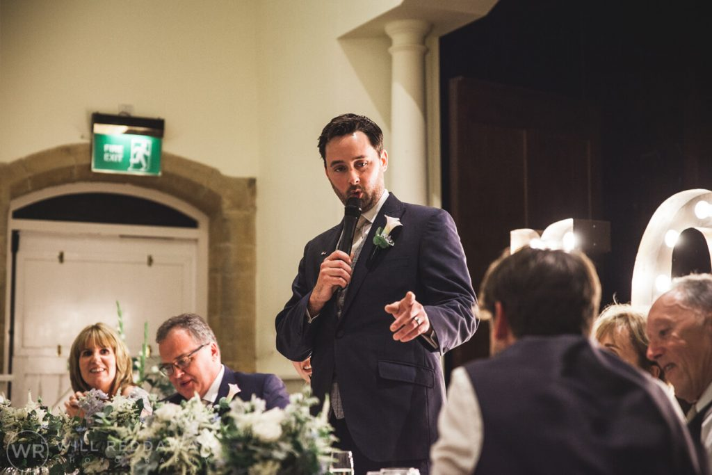 Dillington House Wedding | Devon Wedding Photographer | Groom Speech