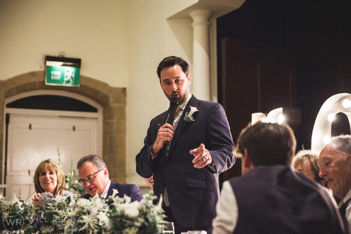 Dillington House Wedding | Devon Wedding Photographer | Groom Speech