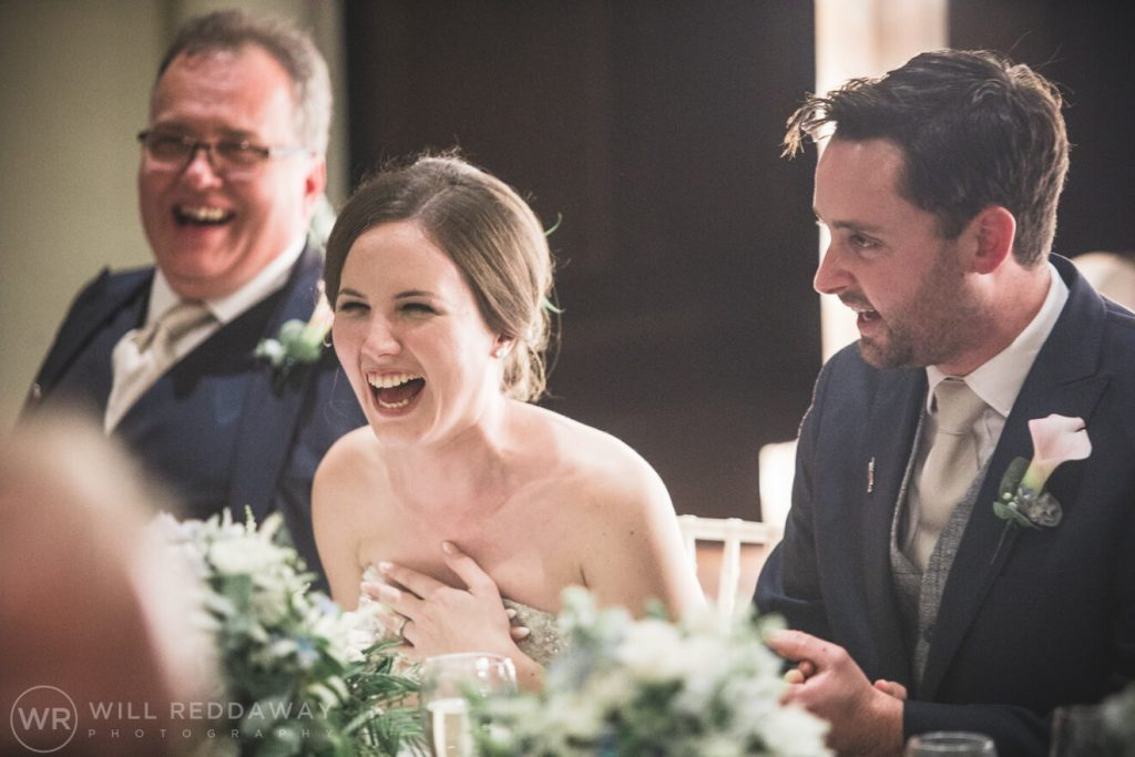 Dillington House Wedding | Devon Wedding Photographer | Bride Laughing