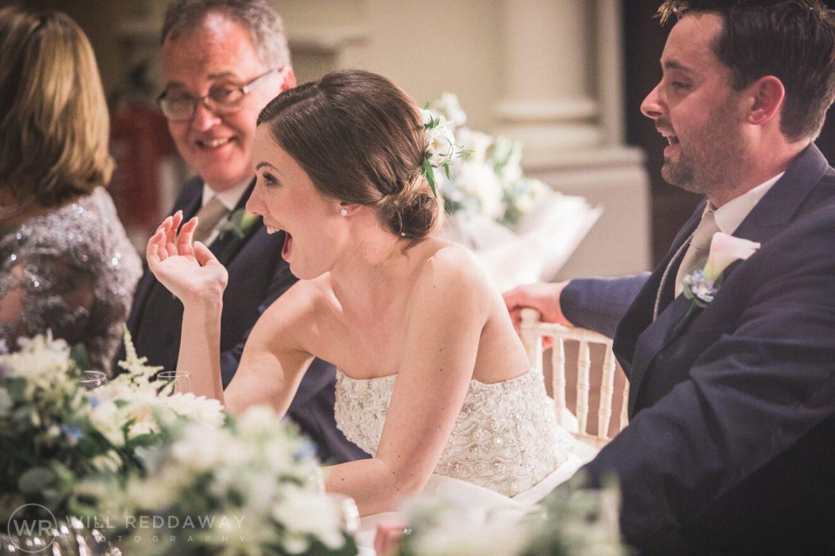 Dillington House Wedding | Devon Wedding Photographer | Bride Laughing