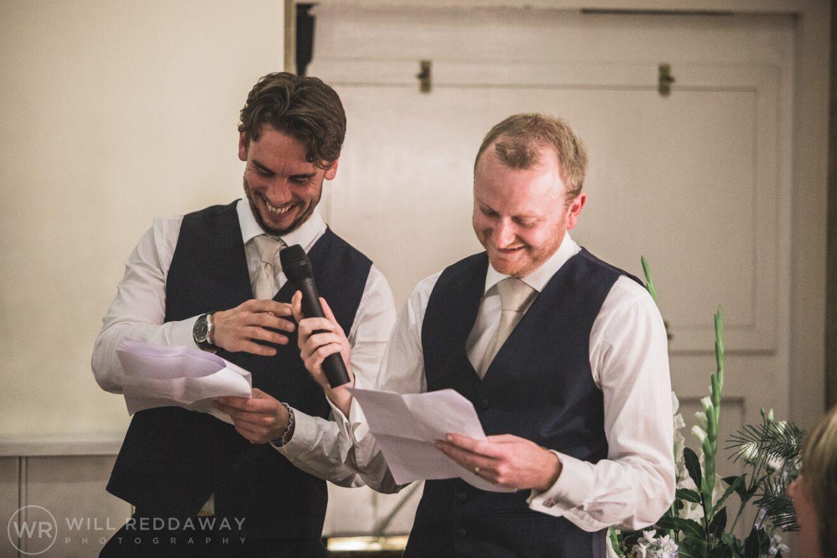 Dillington House Wedding | Devon Wedding Photographer | Bestman Speech