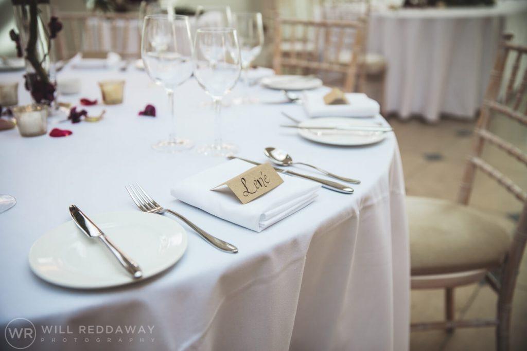 Rockbeare Manor Wedding   Devon Wedding Photographer   Table Decoration
