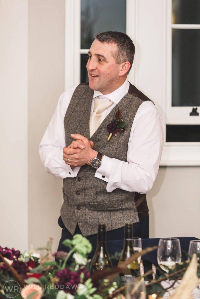 Rockbeare Manor Wedding   Devon Wedding Photographer   Wedding Speech
