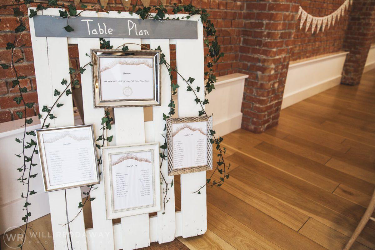The Green Cornwall Wedding | Devon Wedding Photographer | Table Plan