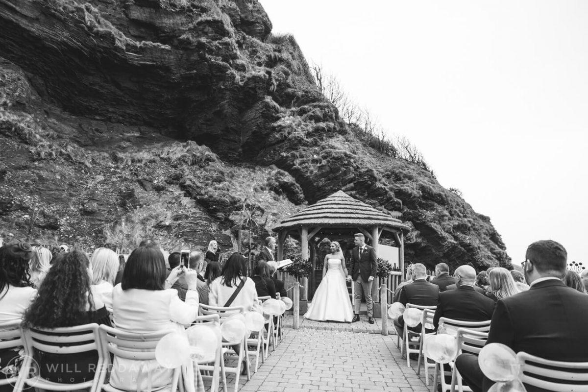 Tunnels Beaches Wedding | Devon Wedding Photographer | Ceremony