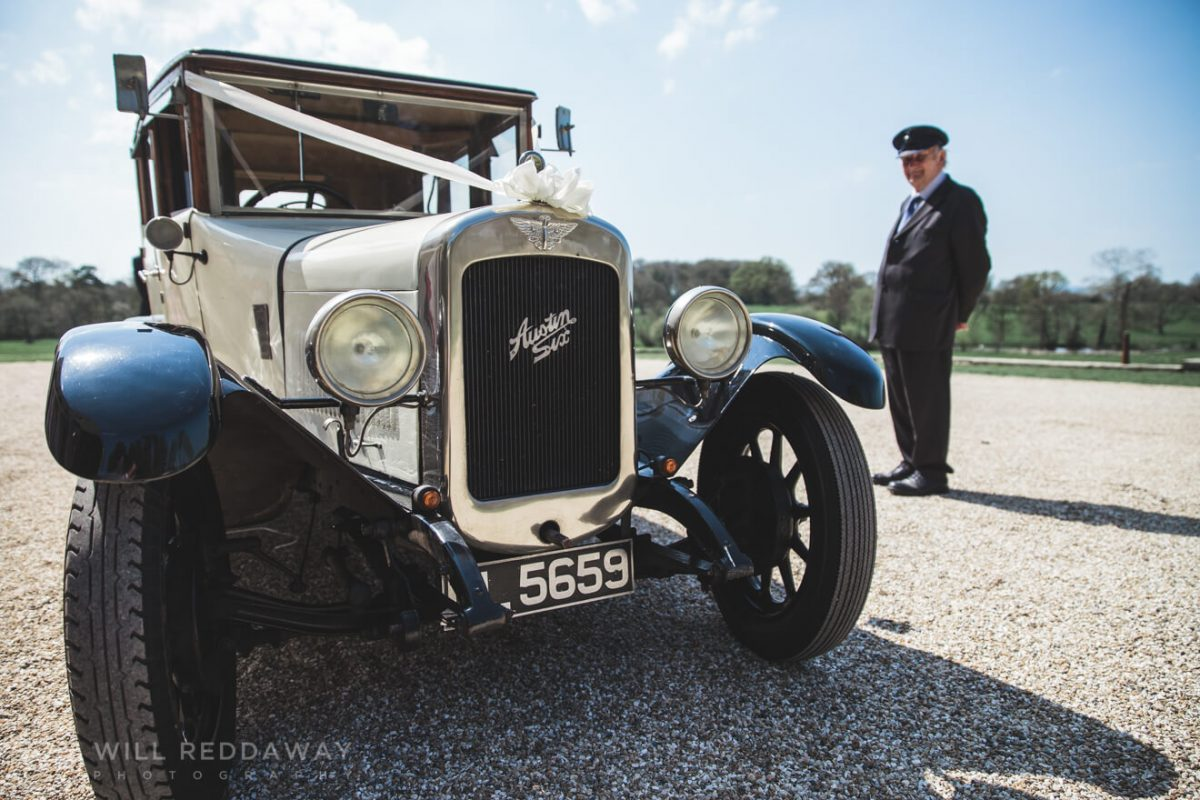 Rockbeare Manor Wedding | Devon Wedding Photographer | Wedding Car