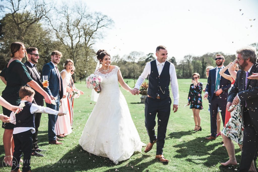 Rockbeare Manor Wedding | Devon Wedding Photographer | Confetti