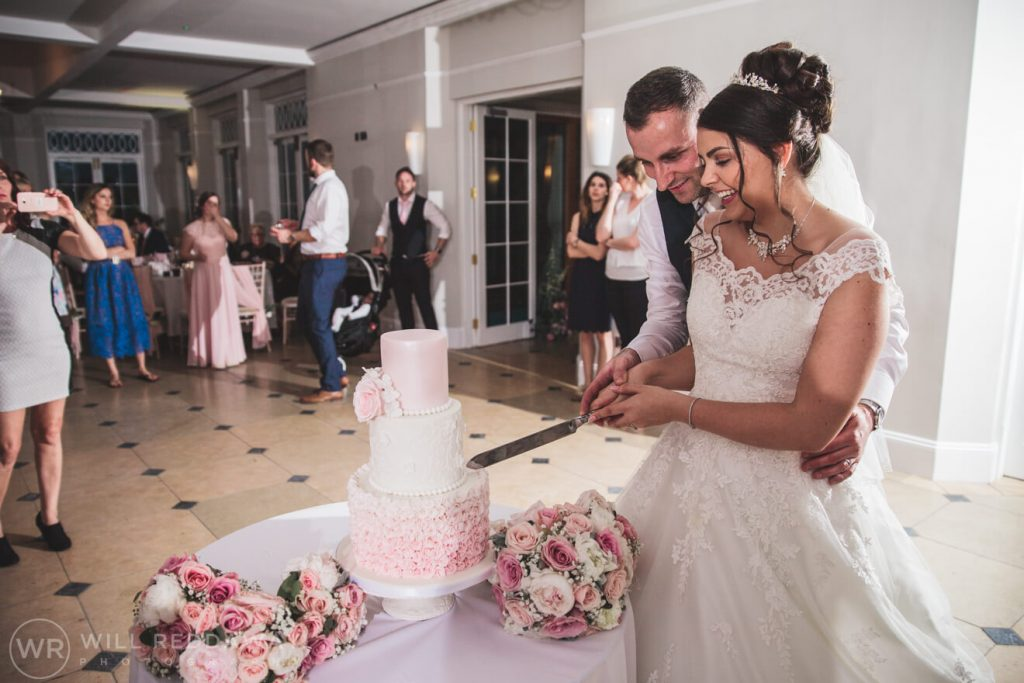 Rockbeare Manor Wedding | Devon Wedding Photographer | Cutting The Cake