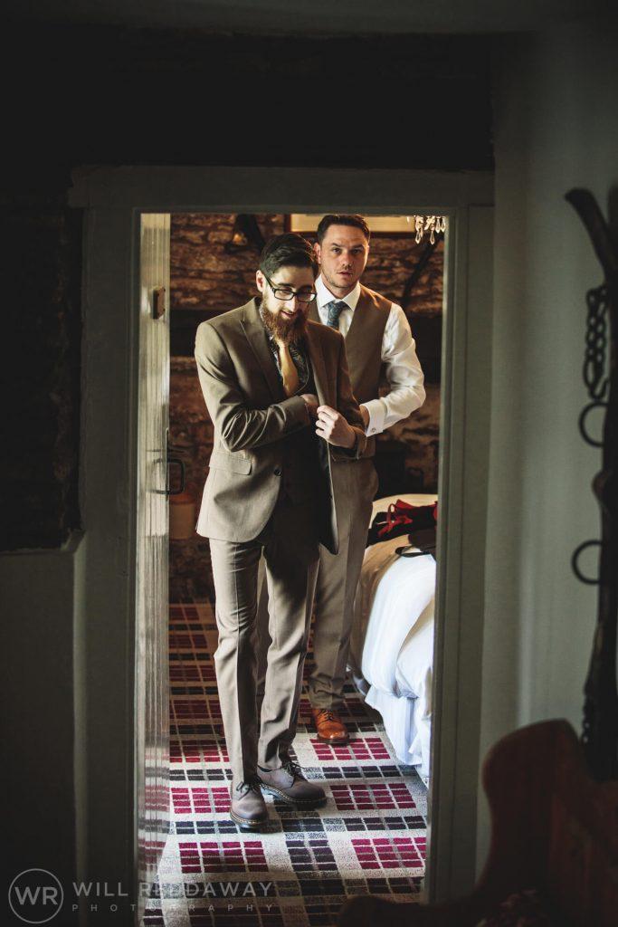 Deers Leap Retreat Wedding | Devon Wedding Photographer | Groomsmen