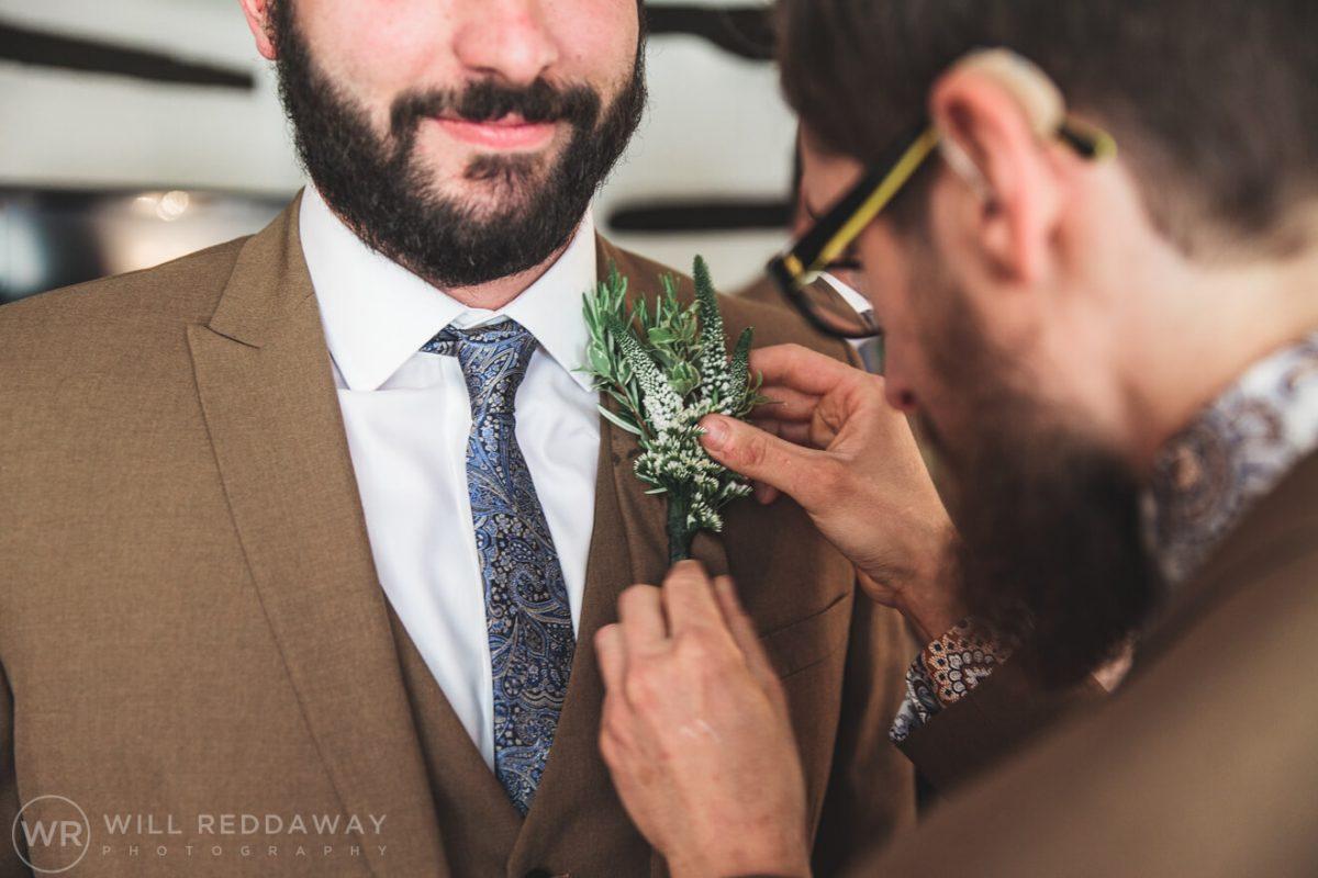 Deers Leap Retreat Wedding | Devon Wedding Photographer | Buttonholes
