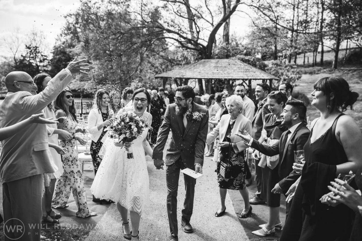 Deers Leap Retreat Wedding | Devon Wedding Photographer | Confetti