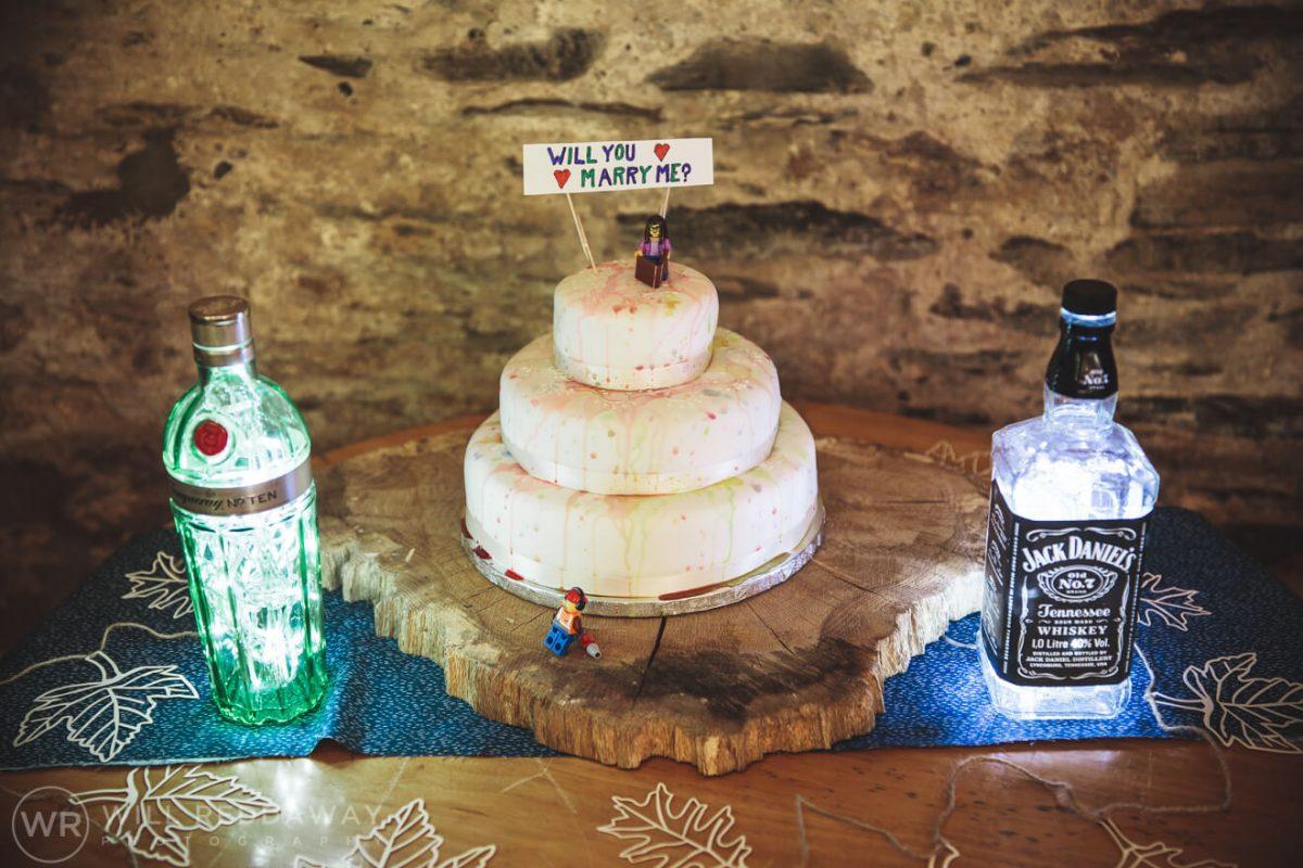 Deers Leap Retreat Wedding | Devon Wedding Photographer | Wedding Cake